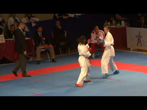 2009 WKF Jr Worlds -21 Women -60 Kg Aka Serbia vs Ao Algeria
