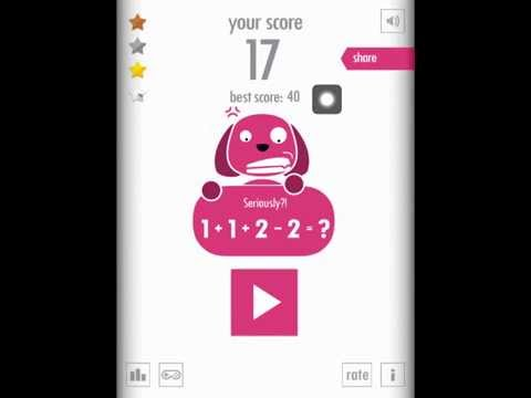 1 + 2 = 3 Review   Are you smarter than a 1st grader? - iOS App Gameplay (iPhone. iPad)