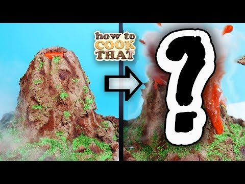 A Working Volcano Cake Eruption Experiment   How To Cook That