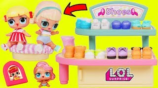 LOL Surprise Dolls + Lil Sisters get New Shoes at Sketchers McDonalds Store - Toy Wave 2 Fizzy Video