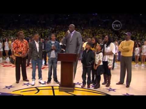 Shaquille O'Neal ceremonia del retiro de su jersey, abril 2 del 2013