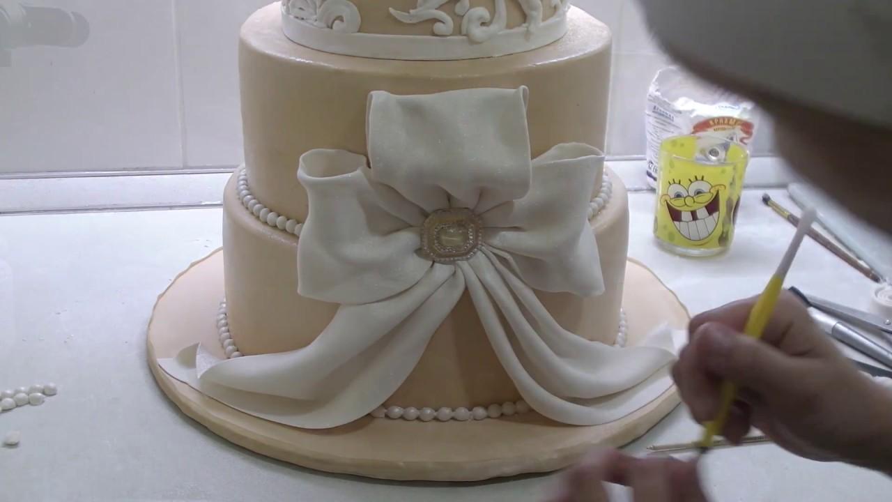 Украсить свадебный торт своими руками в домашних условиях 11