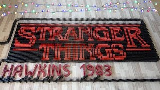 STRANGER THINGS in 33,000 dominoes (DominoERDMANN & ND Domino)