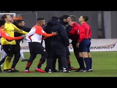 Як тренерський штаб Шахтаря з'ясовував стосунки з арбітром після завершення матчу з Зорею
