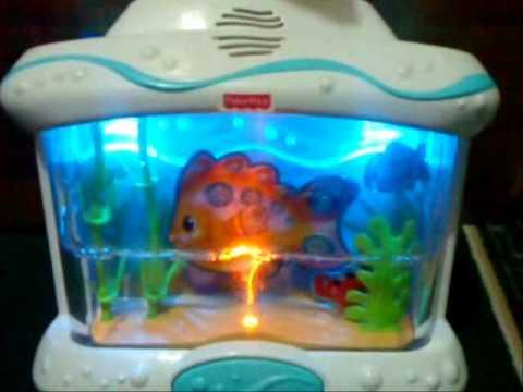 Fisher price ocean wonders musical aquarium crib for Toddler fish tank