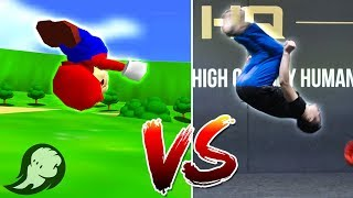 All Super Mario 64 Moves In Real Life | HITBOX
