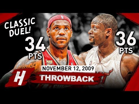 LeBron James vs Dwyane Wade CLASSIC FRIENDSHIP DUEL 2009.11.12 - EPIC Highlights!