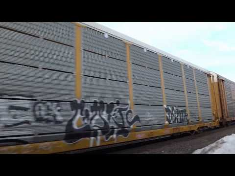 Shirley, MA: Freight Train Near Shirley MBTA Station