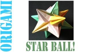 Origami Daily - 055: Modular Decorative Star Ball - Tcgames [hd]