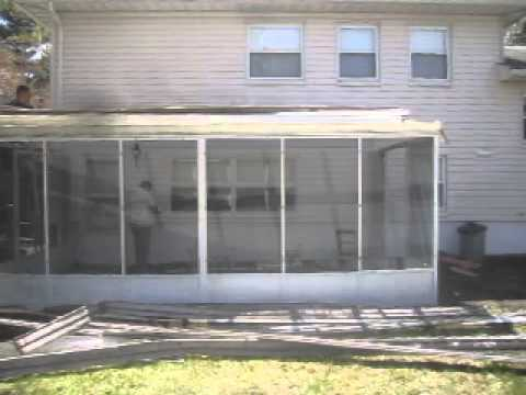 Removing Aluminum Frame Sunroom, NJ 973-487-3704