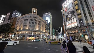 【4K】Retaking night Tokyo Station and Ginza. 60p and less image noise.