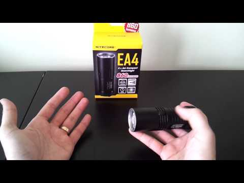 Nitecore EA4 (XM-L U2. 4xAA) flashlight reviews. by selfbuilt