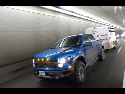 2014 Ford Raptor 6.2L vs F-250 6.2L Mashup Ike Gauntlet Towing Test ( Part 2)