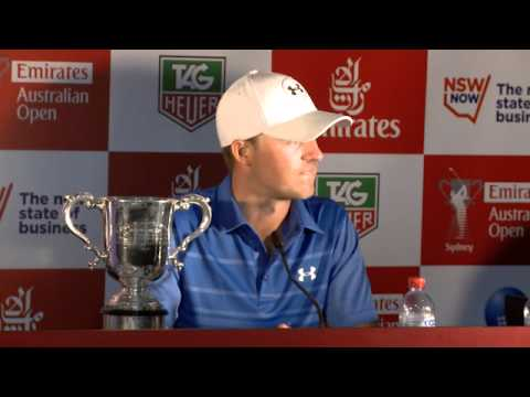 AOTV: Winner Jordan Spieth media conference (p1) 2014 Emirates Australian Open