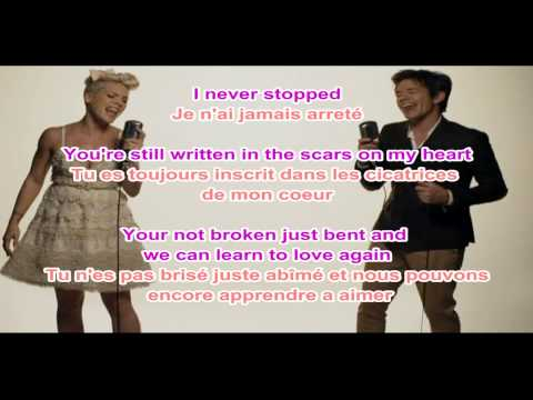 Pink - Just Give Me A Reason Lyrics + Traduction Francaise video