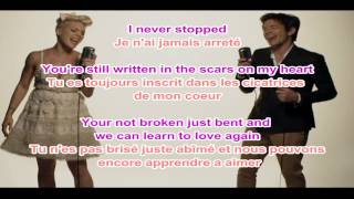 Pink Video - Pink - Just Give Me a Reason LYRICS + traduction francaise