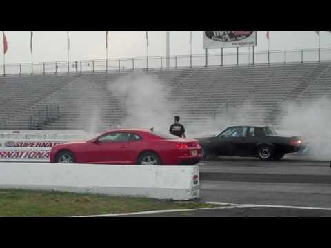 1987 Buick Grand National VS 2010 V6 Chevy Camaro 1/4 Mile run 2010
