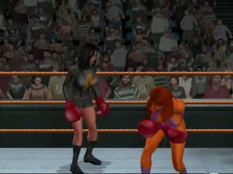 Boxing - Dark Mary Marvel vs Starfire (HD) Video