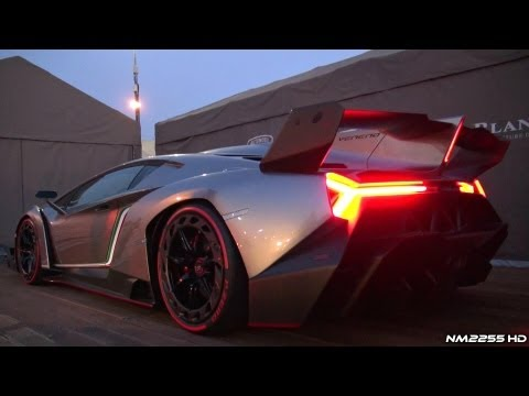 Lamborghini Veneno SOUND - Start Up and REVS!!