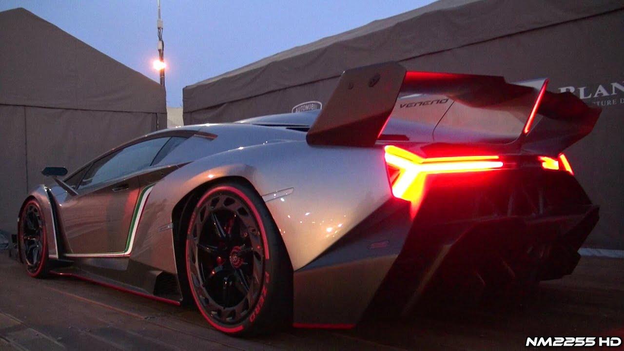 Lamborghini Veneno Sound Start Up And Revs Youtube