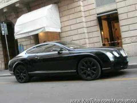 Black Bentley Continental GT With Black Rims