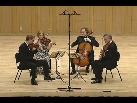 The American String Quartet - Ravel String Quartet in F Major - 3rd Mvmt, Tres Lent