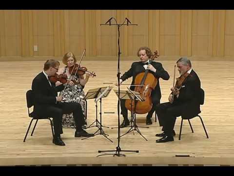 The American String Quartet - Ravel String Quartet in F Major - 3rd Mvmt, Tres Lent