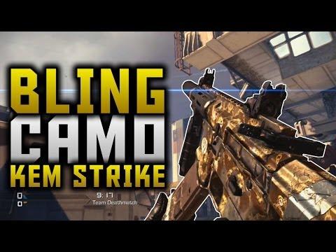 COD Ghosts: BLING CAMO KEM STRIKE ON IGNITION! (New Micro DLC BLING Camo KEM Strike Gameplay)