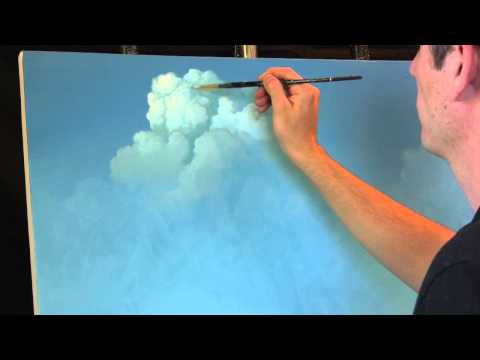 Painting Clouds with Tim Gagnon. A Time Lapse Speed Landscape Painting with Acrylic