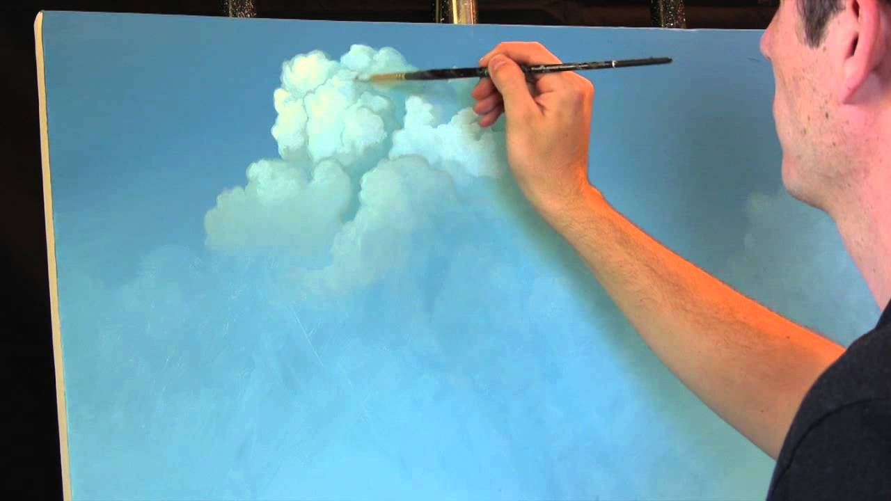 Painting clouds with tim gagnon a time lapse speed for Oil or acrylic