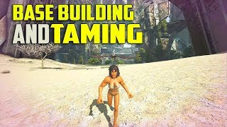BUILDING BASE AND TAMING!! - OFFICIAL SMALL TRIBE EXTINCTION PVP S3 Ep1 | ARK: Survival Evolved
