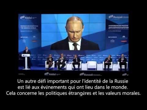 Vladimir Poutine   « La plupart des pays Euro Atlantistes renient leurs principes moraux »
