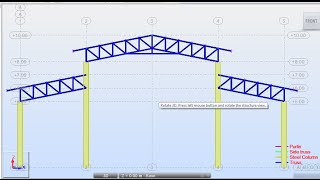 Autodesk Robot Structural Analysis-Design of Steel Truss Factory Structure 01