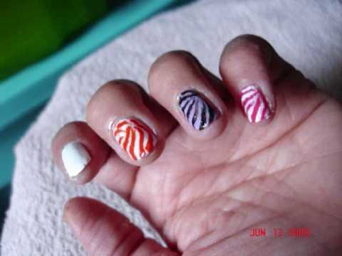 Fancy Zebra Stripe Nails