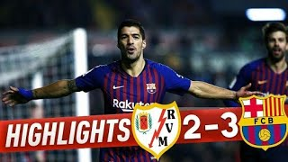Barcelona vs Ray Vallecano 3-2 || All goals and Resumen highlights || Full HD Quality