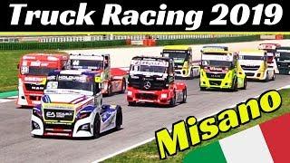 Misano European Truck Championship 2019 Highlights - Truck Accidents, Crashes, Skids & Close Calls!