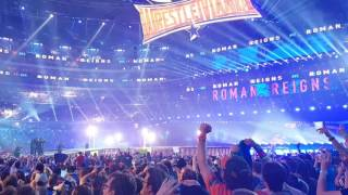 Roman Reigns Wrestlemania 32 Entrance Live Pyro
