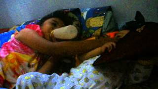 Funny-Sister teases younger brother while drinking milk