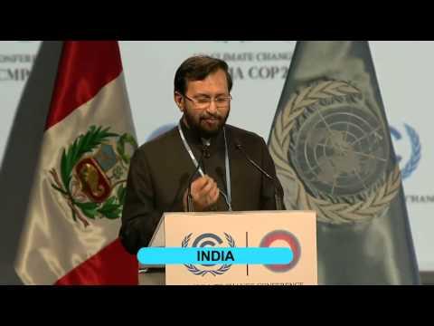 Statement of Shri Prakash Javadekar at the High Level Segment of UNFCCC COP-20 at Lima