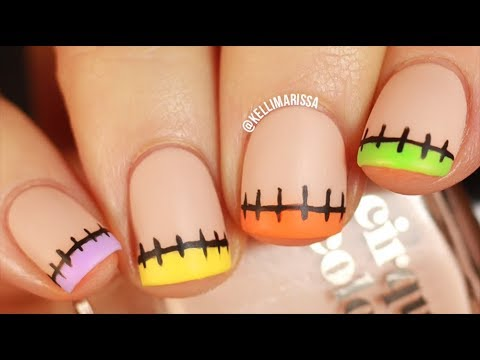 Easy Halloween French Manicure Nail Art Design DIY    KELLI MARISSA