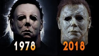 Halloween 1978 and 2018 Michael Myers Mask Comparison   Full Mask Details