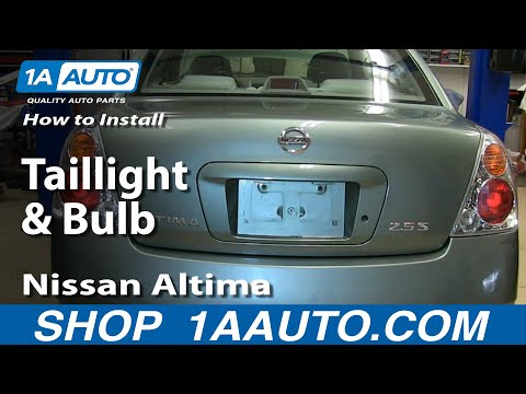 How to Install Replace Change Taillight and Bulb 2002-06 Nissan Altima