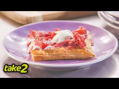 Easy Rhubarb Tart Recipe with Yoghurt - Woolworths Take 2