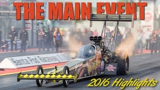 'Main Event' 2016 Highlights at Santa Pod Raceway - FIA /FIM European Drag Racing Championships