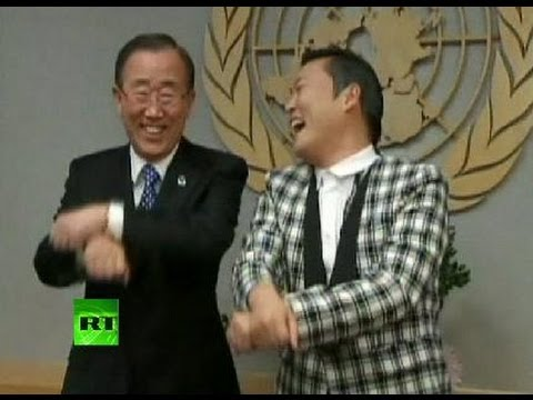 UN Gangnam Style: PSY meets Sec-Gen Ban Ki-moon