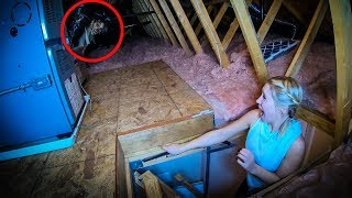 someone's living in our attic.. *Scare Prank*
