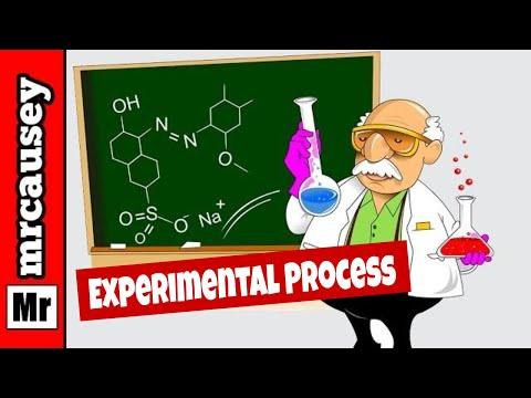 The Experimental Process and Data Collection for the Scientific Method - Chemistry