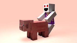 Scary Easter Bunny - Minecraft