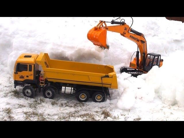 RC ADVENTURES - Toxic Waste Recovery - 1/12 Scale 4200 XL Excavator & 8x8 Tipper Truck