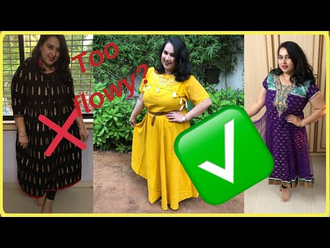How To Style Anarkali| Anarkali Kurti for Curvy Body Type| Plus size Fashion